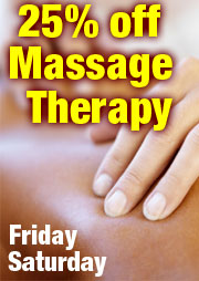 25% OFF Massage Therapy Treatments