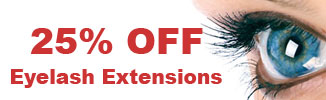 25% off Eyelash Extensions