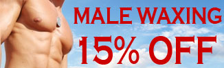 15% off Male Waxing