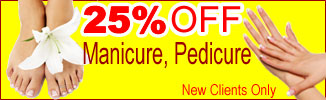 25% off Manicure and Pedicure Package